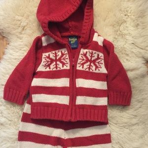 2 piece Baby OshKosh Sweater Outfit 3-6 months